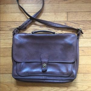 Vintage Coach Leather Laptop Bag